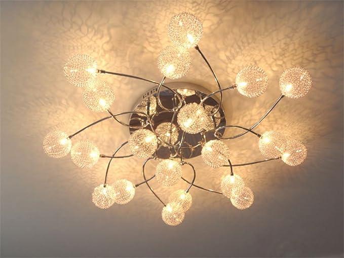 Plafoniere Con Lampadine : Plafoniera luci con rete metallica Ø cm da w v