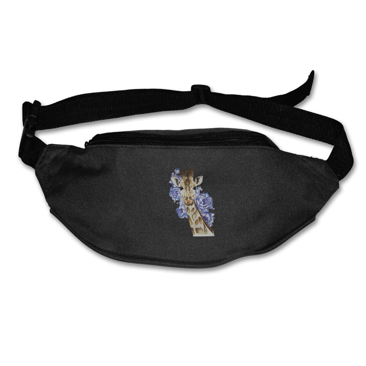 Giraffe Waterproof Sport Waist Bag Fanny Pack Adjustable For Hike