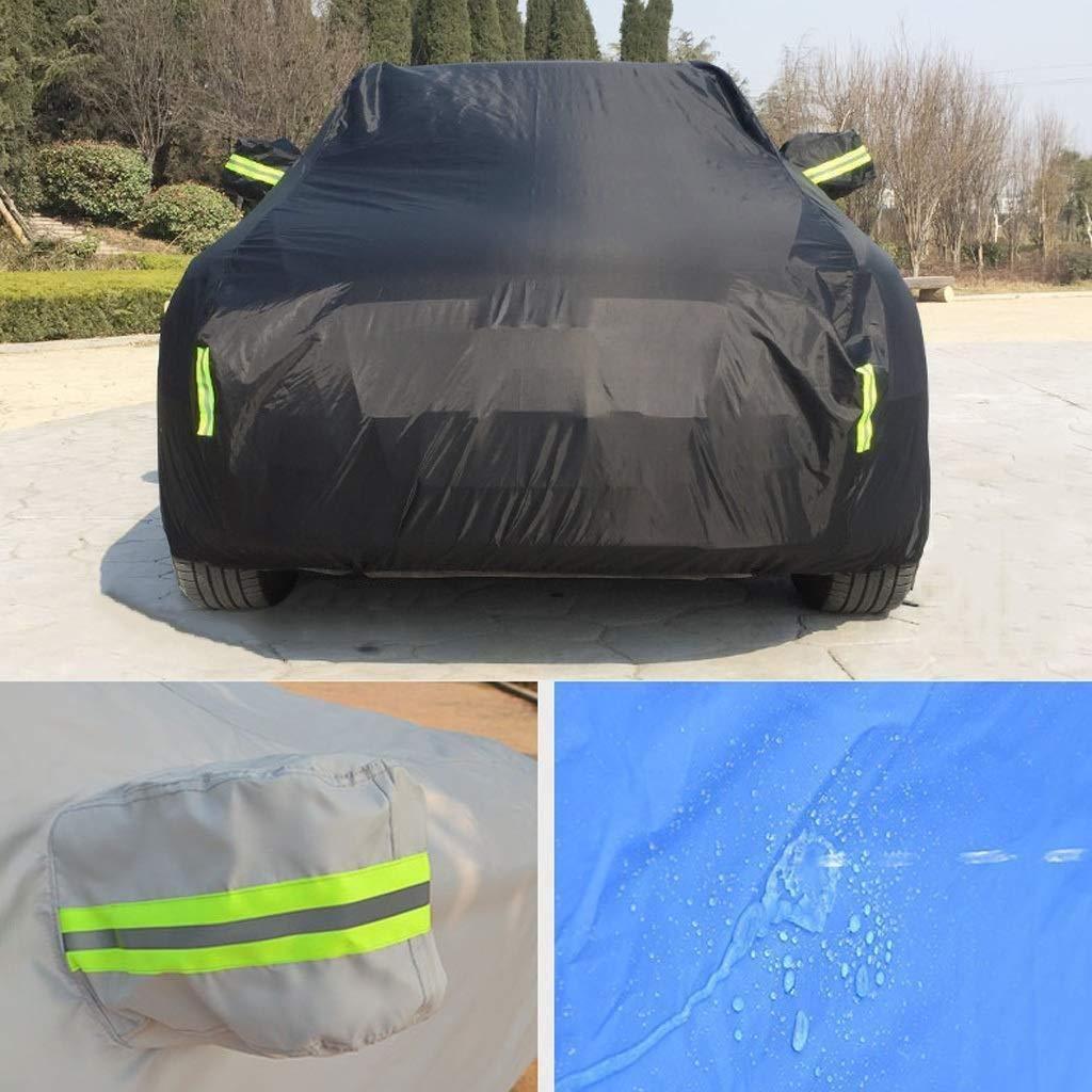 Copertura dellautomobile Compatibile con Audi RS6 Car Cover Protezione Solare a pioggia e polvere antigelo ispessimento di isolamento in tessuto Oxford Car Cover un telone Color : Black