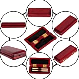Oboe Reed Case,Maple Wood Reeds Case Storage Wooden Holder Box Cover for 2pcs Oboe 9.5 x 4 x 1.5cm