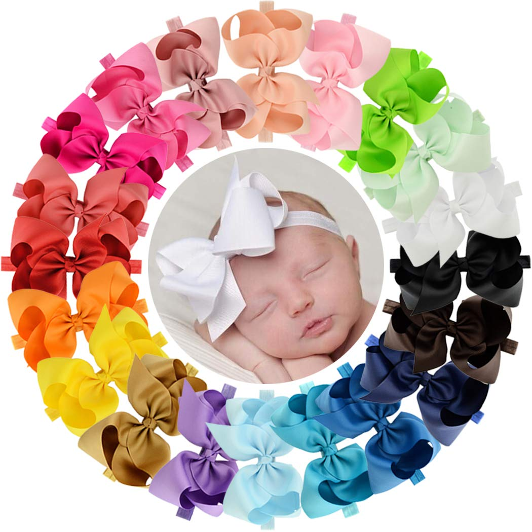 Baby Kids Girls Stretch Ribbon Mini Bow Knot Hair Head Band Headband Gift AA3