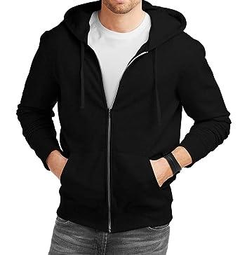 8bd75c797 Mens Superhero Zip Up Hoodie - Premium Quality Black Zipper Hooded  Sweatshirt