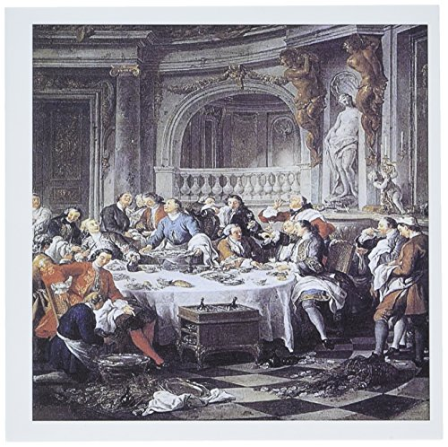 3dRose Greeting Cards, 6 x 6 Inches, Pack of 12, the Oyster Lunch By Jean-Francois De Troy (gc_149675_2)