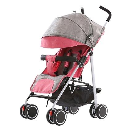 HAOJUN El Paraguas Plegable del Cochecito de bebé Puede Sentarse Mini Cochecito de bebé reclinable Importado