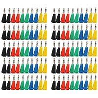 Areyourshop 100 Pcs 5 Color Banana Plug For Test Probes 4mm Binding Post Jack Soldering