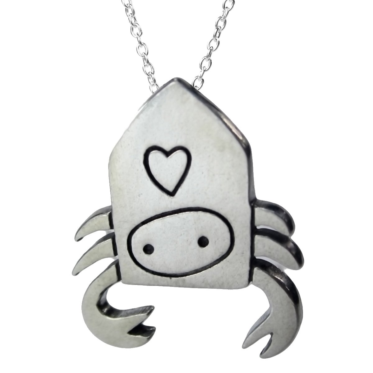 Mark Poulin Womens Pewter Necklace Hermit Crab 18 Chain
