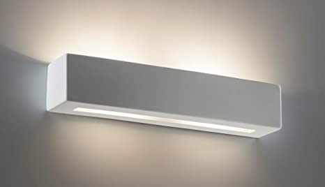 Futur print applique in gesso led w lampada da parete moderno