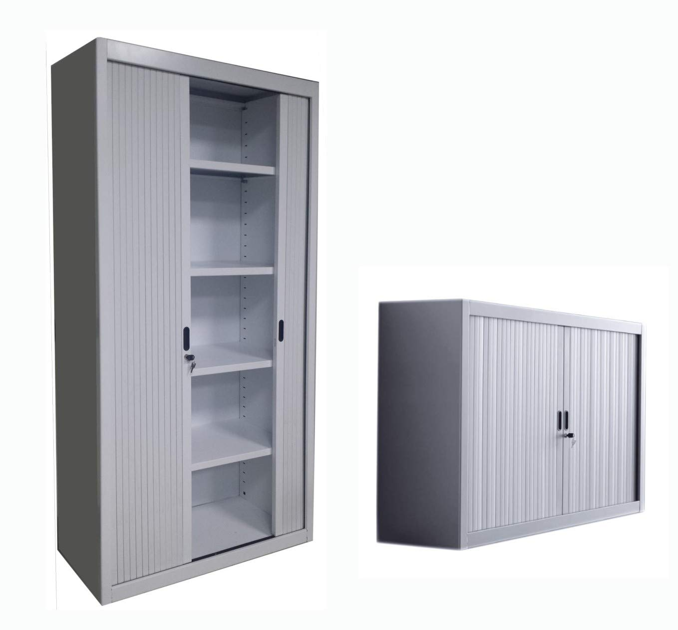 Pleasing Set Of 2 Pcs Office Storage Roller Sliding Door Metal Best Image Libraries Weasiibadanjobscom