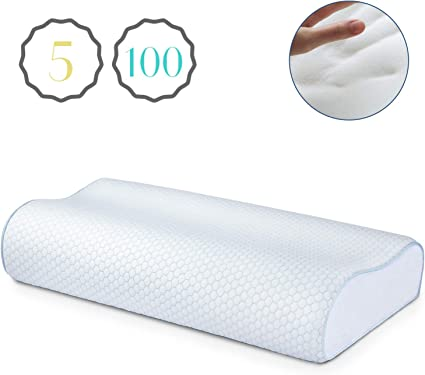 LUXURY PAIR OF MEMORY FOAM PILLOW ORTHOPEDIC CONTOUR FIRM SUPPORT HEAD NECK BACK