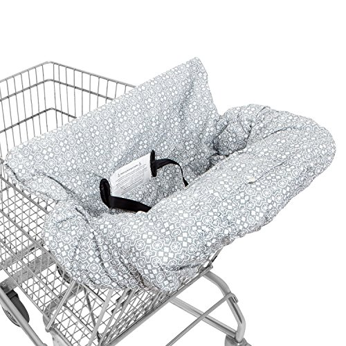 Waterproof Gray 2-in-1 Baby Shopping Cart Cover & High Chair Covers with Safety Harness for Babies & Toddler (Grey) from SEALOVESFLOWER