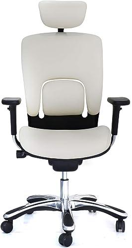 GM Seating Ergolux Genuine Leather Hi Swivel Chair