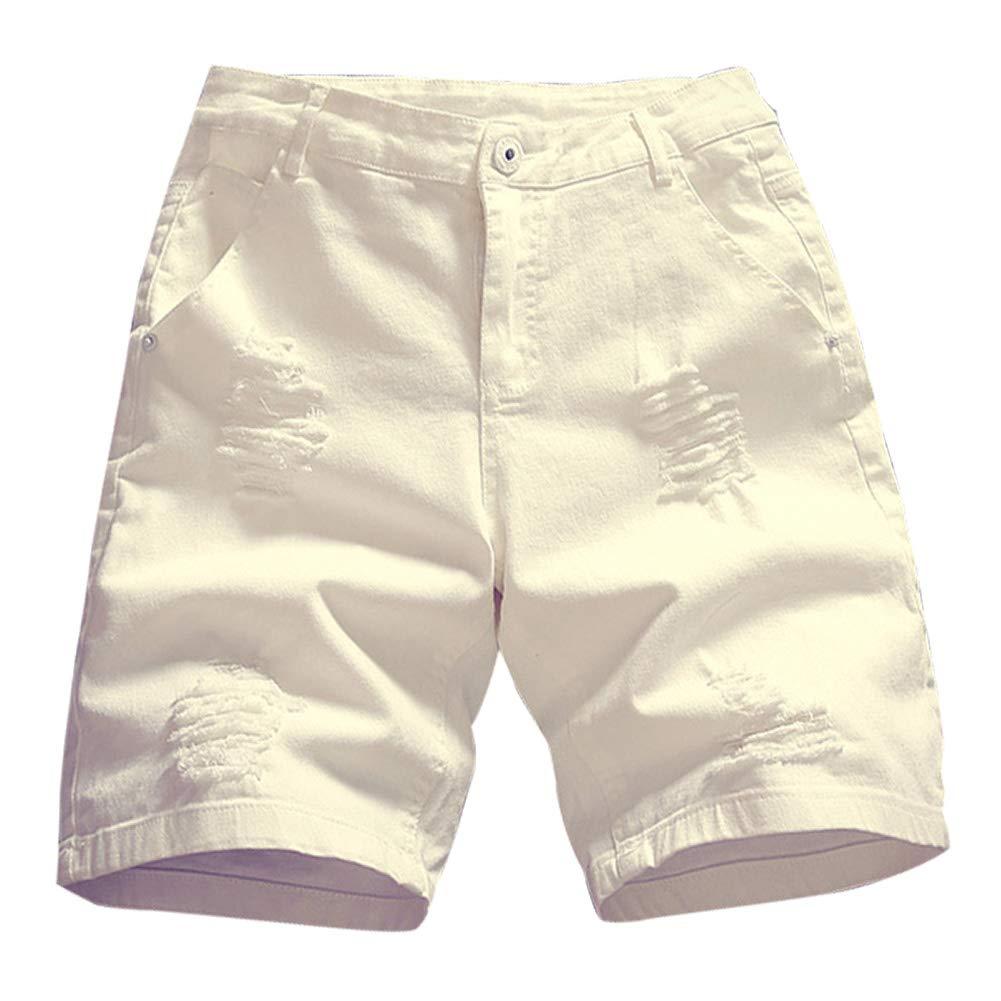 IDEALSANXUN Men/'s Summer Ripped Denim Shorts