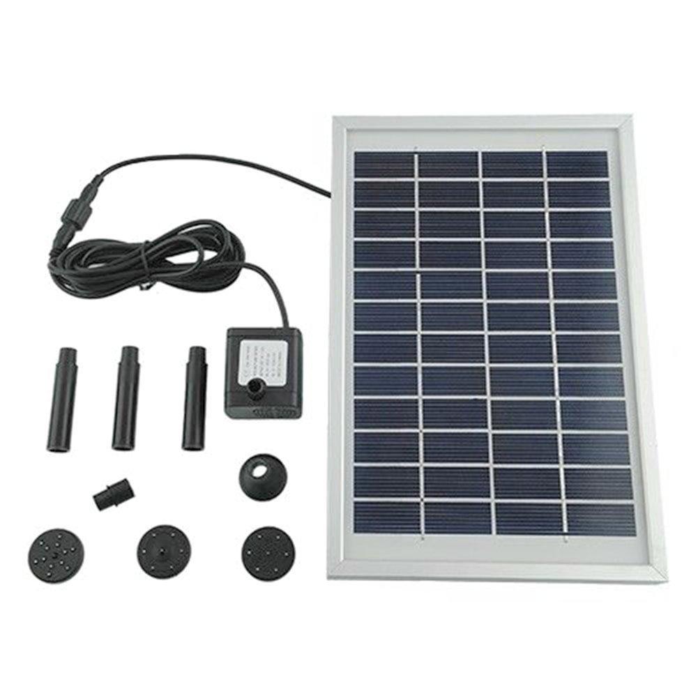 MVPOWER Bomba de Agua de Energía Solar para Piscina Jardín Fuentes 5W 500L / H Altura