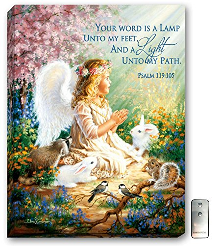 An Angel's Spirit - LED canvas painting - LED wall art