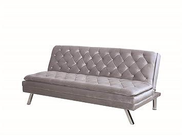 Amazon.com: Posavasos tela sofá cama con acabado plateado ...