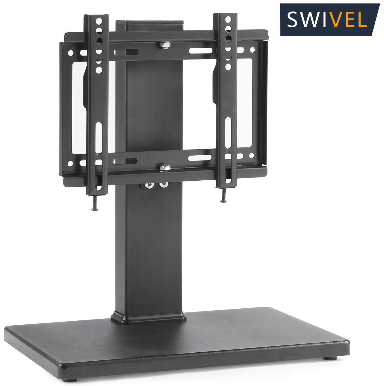 TAVR Universal Swivel Tabletop TV Stand with Mount for up to 32 inch LED,LCD and Plasma Flat Screen TVs with Height Adjustment Function,Wood Black UT1003