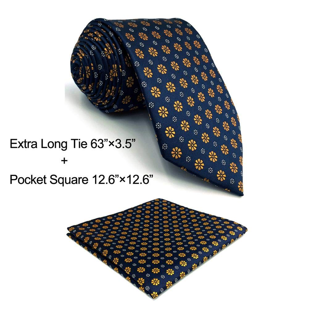 S/&W SHLAX/&WING Puntos Corbatas Para Hombre Azul Set Nuevo Dise/ño with Pa/ñuelo De Bolsillo
