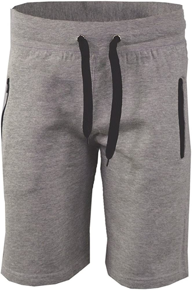 STORTO Mens Sports Shorts Summer Solid Fashion Casual Workout Fit Gym Breathable Pockets Shorts Gray