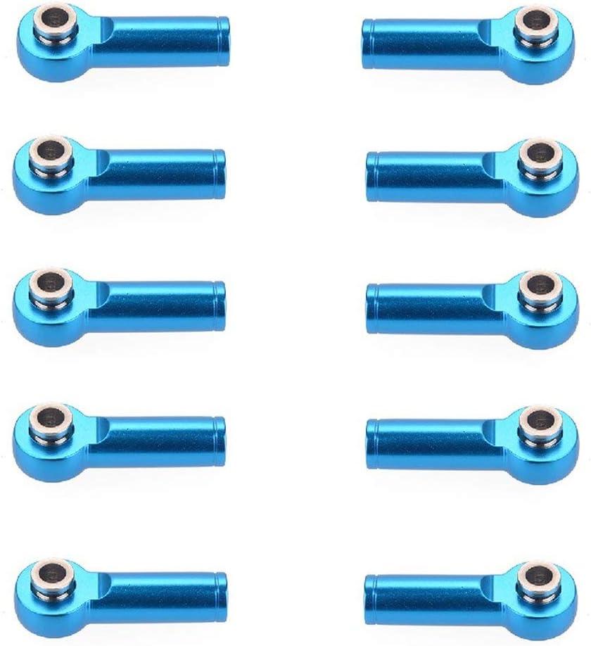 Sairis 10 Piezas M4 Metal Tie Push Link Rod End Joint Ball Head Holder para 1/8 y 1/10 RC Truck Buggy Crawler Accesorio del Coche