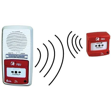 Lote de alarma y radio a pilas tipo 4 A, inalámbrico + ...