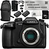 Panasonic Lumix DC-GH5 Mirrorless Digital Camera with V-Log L Function Activation Code 8PC Accessory Bundle – Includes 64GB SD Memory Card + MORE - International Version (No Warranty)