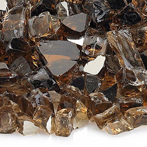 [해외]벽난로 유리 - 화재 구덩이 유리 - 구리 반사 ¼ 인치 - 25 파운드/Fireplace Glass- Fire Pit Glass- Copper Reflective ¼ Inch - 25 Lbs