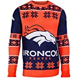 Klew Ugly Sweater Denver Broncos, Small