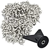 """Wobe 200 Pcs 1/4 Inch Stainless Steel Spikes with 1 Pcs Spike Wrench, 0.25"""" Length Track and Cross Country Spikes Shoe…"""