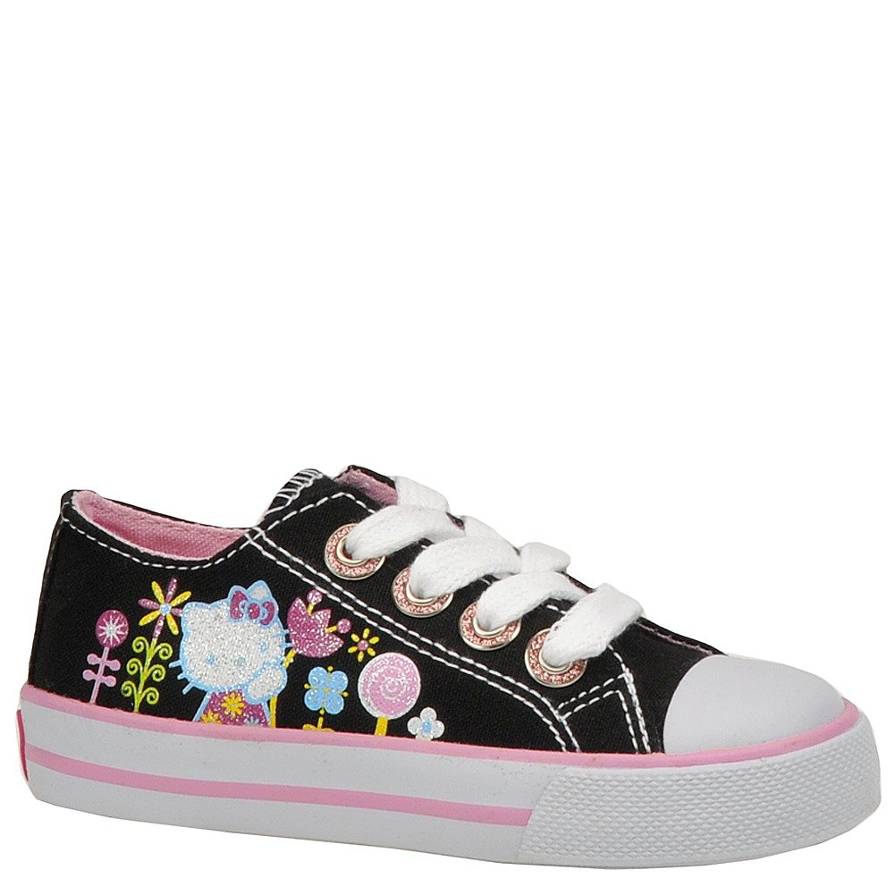 Hello Kitty Infant/Toddlers Shoes Genie Black/White/Pink Sneakers Size 5