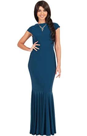 84123ee3c0716 KOH KOH Petite Womens Long Cap Short Sleeve Formal Sexy Evening Prom  Cocktail Bridesmaids Wedding Party