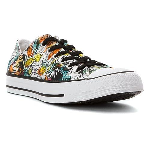 5496ac85182ba9 Converse Women s Chuck Taylor All Star Daisy Print Low Top Sneaker Black Rebel  Teal White 8.5 M  Converse  Amazon.ca  Shoes   Handbags
