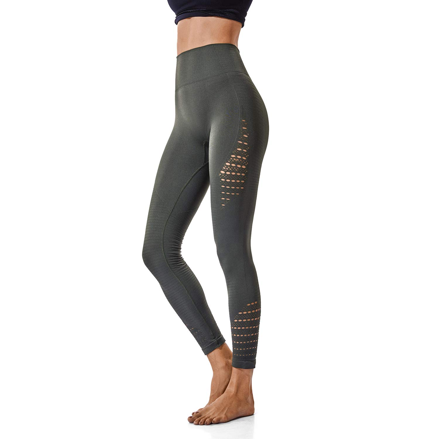 2955d7d9eaf06 FITTOO High Waisted Seamless Yoga Pants Gym Workout Leggings for Women  Tummy Control at Amazon Women's Clothing store: