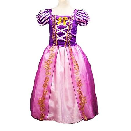 Disfraz de Princesa Rapunzel para niñas pequeñas, Vestido de ...