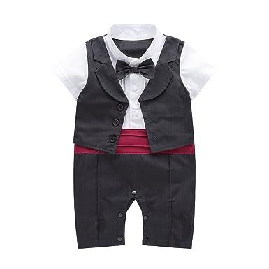 75410fdb0 Nyan Cat May s Baby Toddler Boys Tuxedo Bowtie Gentleman Romper ...