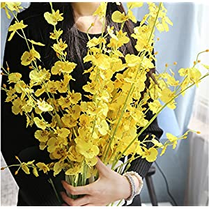 HuanhuaTC 8pcs Artificial Orchids Realistic Fake Flowers Arrangement for Home Party and Wedding Decor 4
