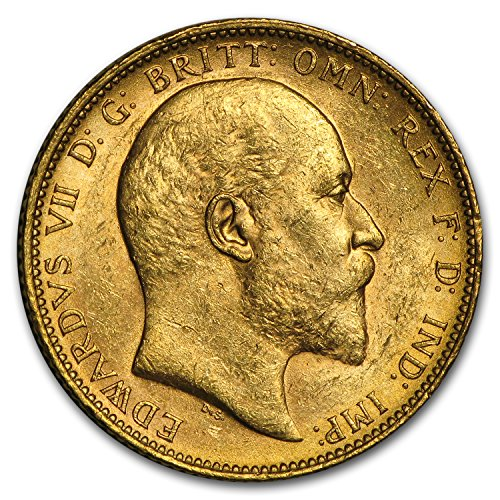 1902 AU - 1910-M Australia Gold Sovereign Edward VII BU Gold Brilliant Uncirculated