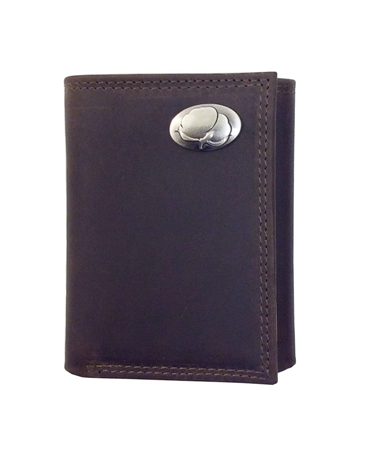 Leather Crazy Horse Brown Trifold Wallet Shotgun Shell