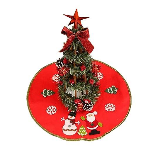 CHENPU - Falda pequeña para árbol de Navidad, decoración para el ...