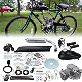 "gas engine kit for bicycle - Ambienceo 26"" 28"" Black 2 Stroke 50cc 80cc Cycle Bicycle Gas Motorized Gasoline Engine Motor Kit CDI Air Cooling For Mountain and Road Bike (80cc, Silver)"