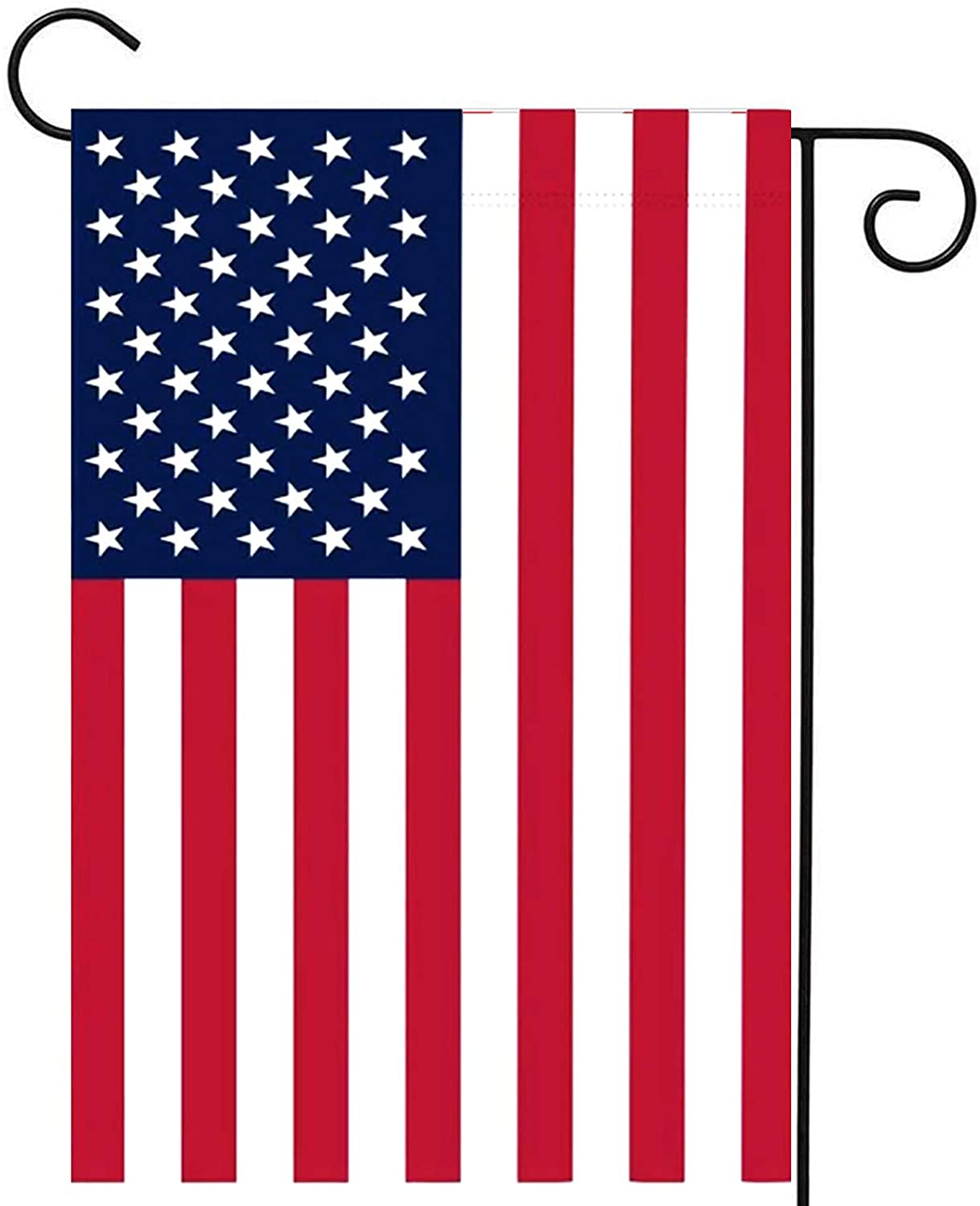 Homissor American Garden Flags 12.5 X 18.5 Inch- US USA 4th of July Double Side Yard Flag Banner Patriotic Outdoor Lawn Decoration(American Garden Flag)