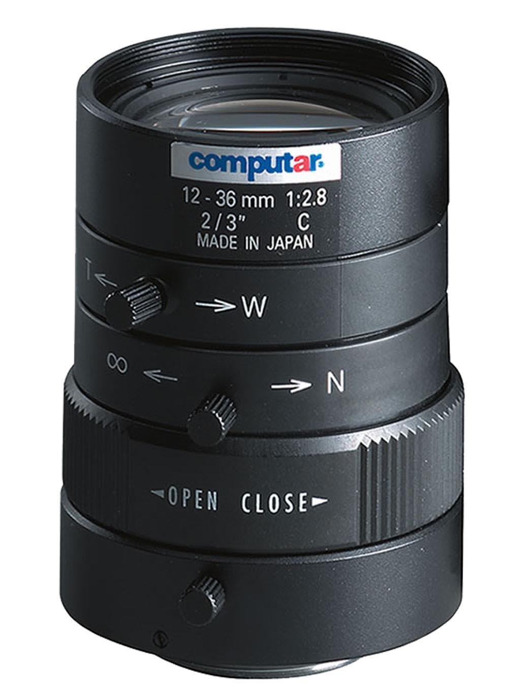 Computar M3Z1228C-MP 0.66-Inch 1.3 Megapixel Varifocal lens 12-36mm F2.8 Manual Iris by Computar
