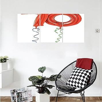 Liguo88 Custom Canvas 70th Birthday Decorations Seventy Birthday Crazy  Party Flying Balloons Art Print Wall Hanging