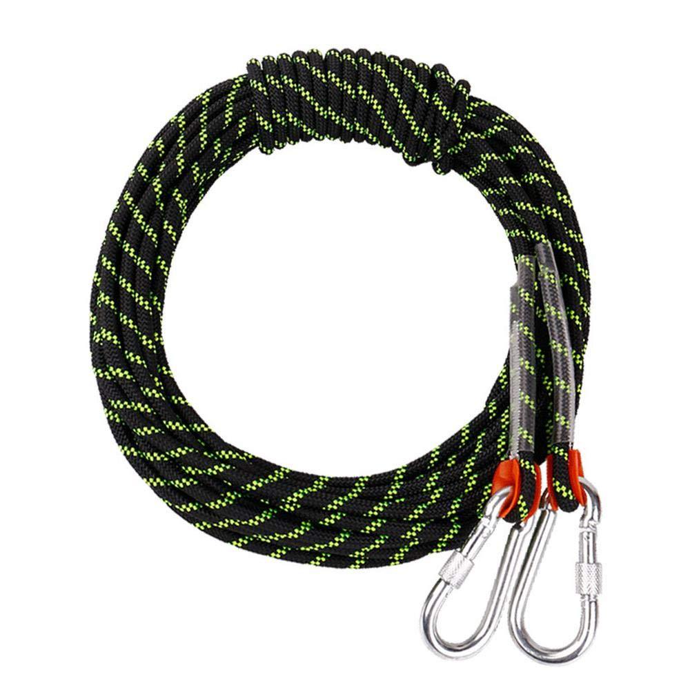 Noir CLIMBING 12mm Alpinisme Corde Corde De Sécurité Extérieure Corde d'escalade Résistant à l'usure Corde De Nylon Escalade Mountain Power Rope Rescue Orange-12mm 20m 12mm 40m