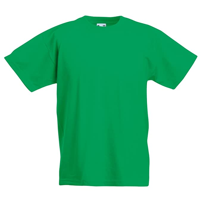 4746c6a1 New Fruit of the Loom Childrens Kids Value Cotton T Shirt: Amazon.co.uk:  Clothing