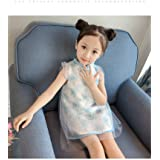 夏韩版女童连衣裙网纱公主裙A字裙中小童中大童背心裙婴幼儿童连衣裙