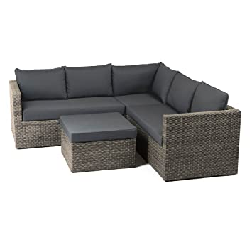 Amazon.de: OUTLIV. Gartenlounge Poly-Rattan Gibson Loungemöbel ...
