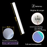 Blu7ive 20 Pack LED Foam Sticks Multicolor Changing 3 Modes Flashing Glow Stick Party Supplies Light Baton Wands for Wedding, Festivals, Raves, Birthday, Children Toys