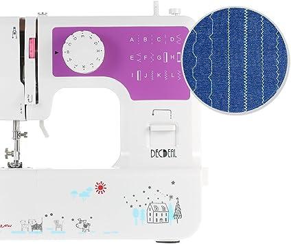 Decdeal Máquina de Coser Eléctrica, Led Luz, 12 Diseños de Puntada ...