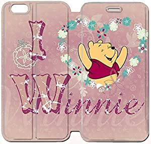 Flip Folio Leather Case for iPhone 6 plus 5.5 inch Cell Phone Case Winnie The Pooh HPM4626543