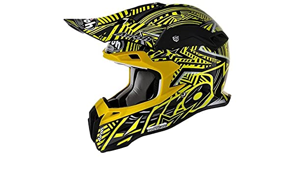 Airoh Terminator Motocross Casco - Stardust - Amarillo: Amazon.es: Coche y moto